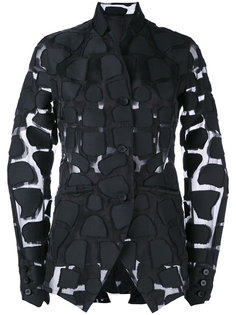 прозрачный пиджак с аппликацией Masnada