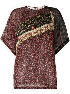 блузка с панельным дизайном и узорами Nº21