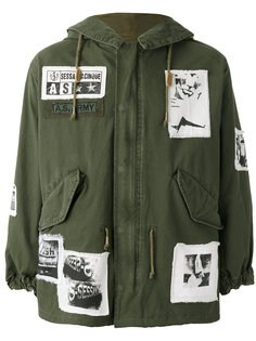 patch detail military jacket  As65