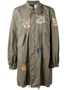 пальто в стиле милитари с вышивкой History Repeats