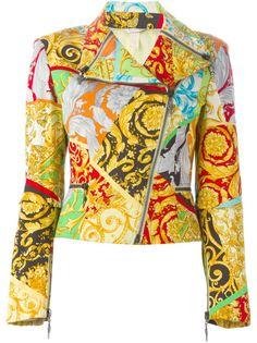 байкерская куртка с комбинированным принтом Versace Vintage