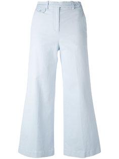 широкие укороченные брюки  Theory