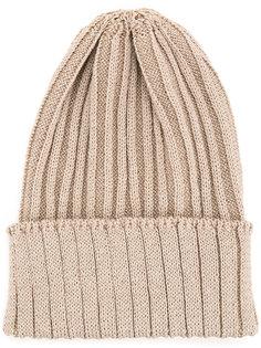 ribbed knit beanie  Kijima Takayuki