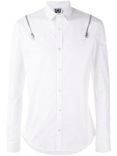 рубашка с молниями на плечах Les Hommes Urban