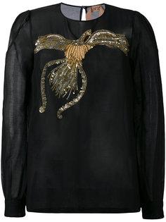 блузка с вышивкой из пайеток Nº21