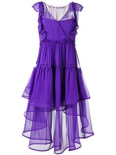 многослойное прозрачное платье  Alberta Ferretti