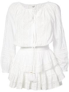 crochet & lace mini dress Love Shack Fancy