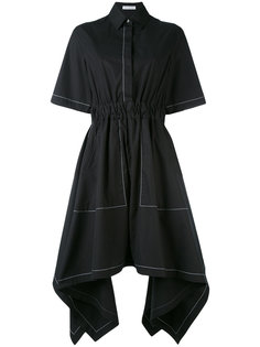 асимметричное расклешенное платье  J.W.Anderson