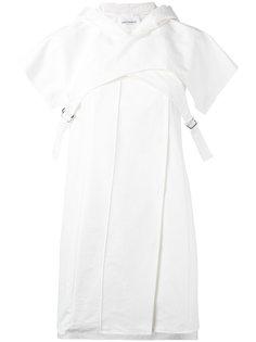 платье мини с капюшоном  Paco Rabanne