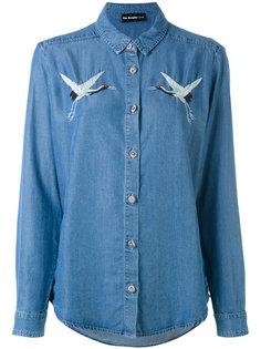 birds embroideries denim shirt The Kooples