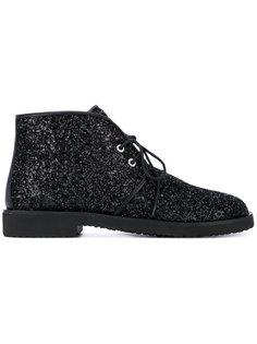 ботинки на шнуровке с блестками Giuseppe Zanotti Design