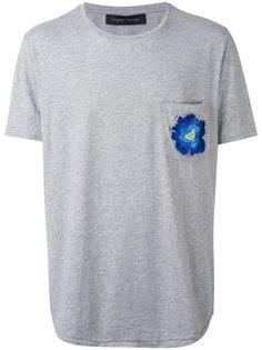 футболка с вышитым цветком Christian Pellizzari