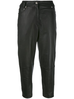 cropped leather pants Versace Vintage