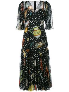 платье с рисунками Dolce & Gabbana
