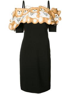 платье со спущенными рукавами Teddy Moschino