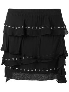 юбка с оборками и люверсами Iro