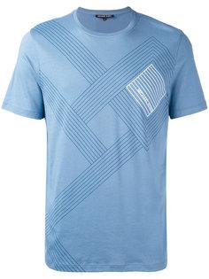 футболка в полоску с логотипом  Michael Michael Kors