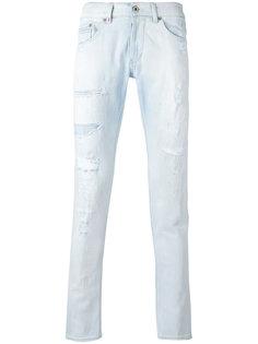 джинсы скинни с рваной отделкой Dondup