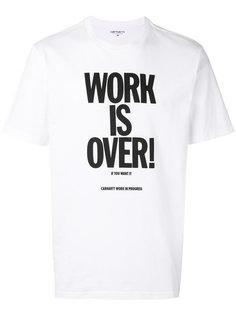 футболка WORK IS OVER Carhartt