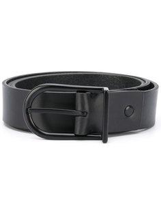 minimal slim leather belt  Troubadour