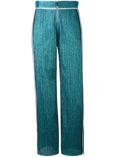 брюки из люрекса с полосками по бокам Aviù