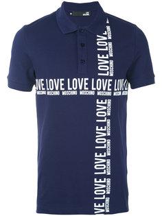 футболка-поло с принтом-логотипом Love Moschino