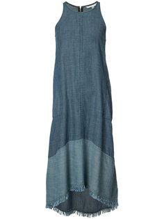 sleeveless denim dress Trina Turk
