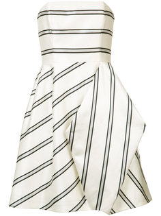 striped party dress Halston Heritage