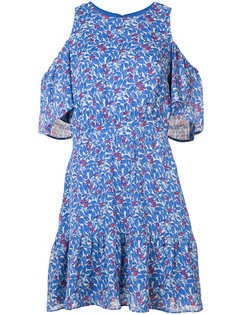 cold shoulder floral dress Tanya Taylor
