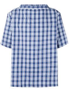 рубашка в клетку с вырезом-лодочкой Comme Des Garçons Shirt