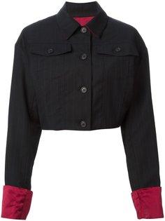 укороченная куртка в тонкую полоску  Dolce & Gabbana Vintage