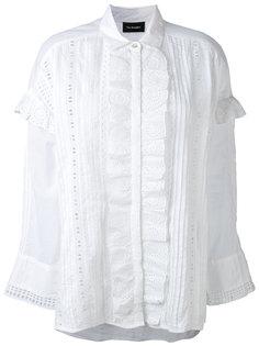english embroidery ruffled shirt The Kooples