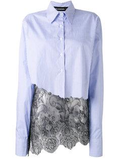 полосатая рубашка с кружевным подолом Filles A Papa