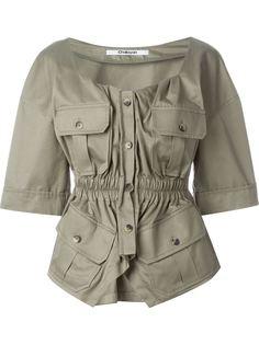 блузка в стиле милитари  Chalayan