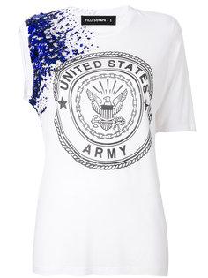 asymmetric embellished T-shirt Filles A Papa