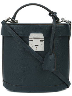 removable strap structured tote Mark Cross