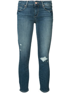 distressed ankle jeans Paige