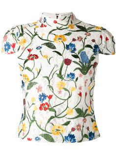 блузка с цветочной вышивкой  Alice+Olivia
