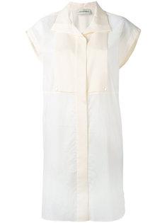 длинная двухцветная рубашка  By Malene Birger