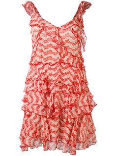 Jasmine print ruffle dress The Kooples