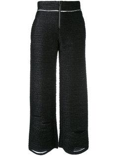 укороченные брюки с потертой отделкой Aviù