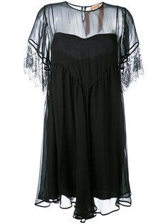платье с прозрачными панелями Nº21