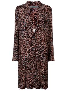 leopard print midi coat Raquel Allegra