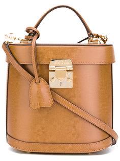 сумка через плечо с застежкой-защелкой Mark Cross
