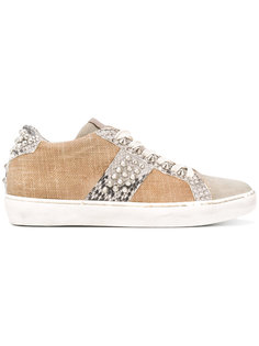 lace-up sneakers Leather Crown