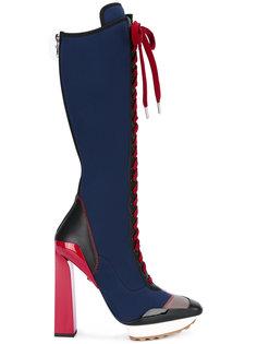 сапоги на платформе Versace