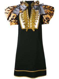 платье в стиле милитари  Dsquared2