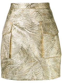 фактурная юбка с отделкой металлик Dsquared2