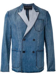 джинсовый двубортный пиджак Christian Pellizzari