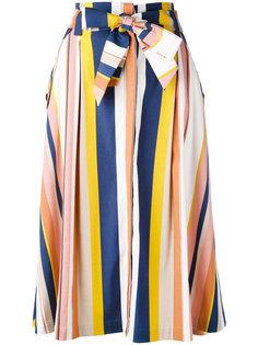 полосатая юбка А-образного силуэта Tanya Taylor
